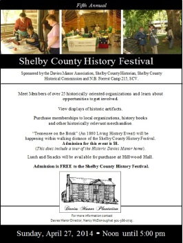 Poster for Shelby County History Festival